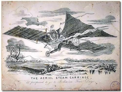 Aerial Steam Transit Company advert