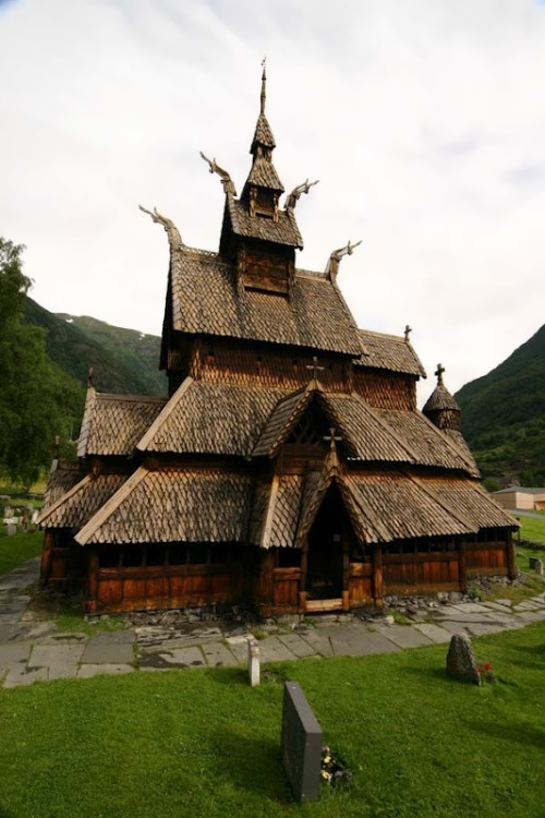 Borgund Stave Church, Norway was built without any metal parts