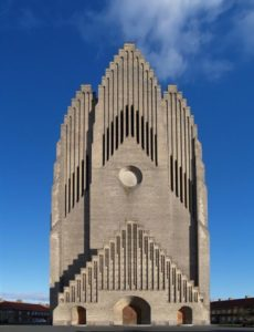 Grundtvig's Church in Copenhagen, Denmark