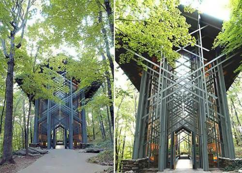 Most unusual churches. Thorncrown Chapel