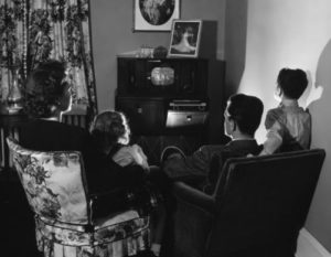 1940s - the beginning of a family TV