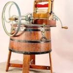 One of the first washing machine. USA, XIX century