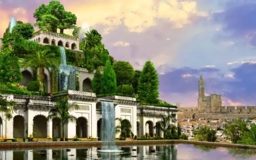 Mesopotamia. Ancient world history. Hanging Gardens of Babylon