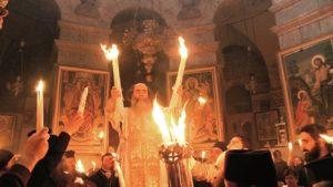 Holy Fire in Jerusalem