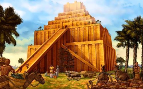Mesopotamia. Ancient world history. Mesopotamia tempel