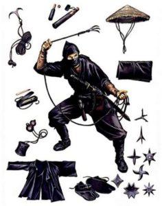 Ninja's equipment
