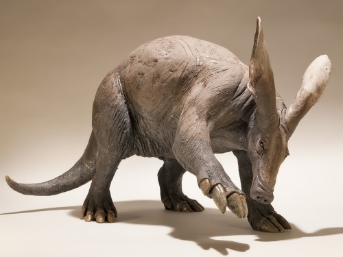 Sculpture of aardvark