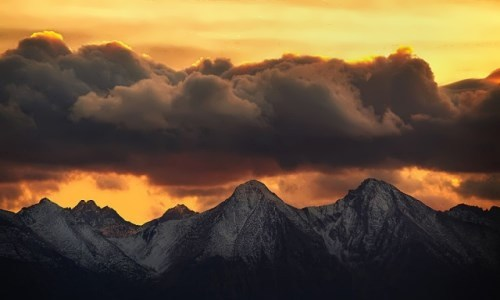 Sunset in the Tatra Mountains