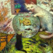Agabalaev Vyacheslav. Cat and goldfish
