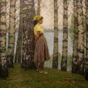 Alex Belykh. Cherished birch. May 1945