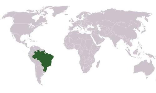 Brazil on the map