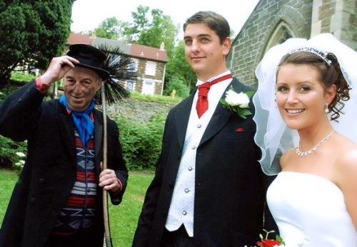 Chimney Sweep at the wedding