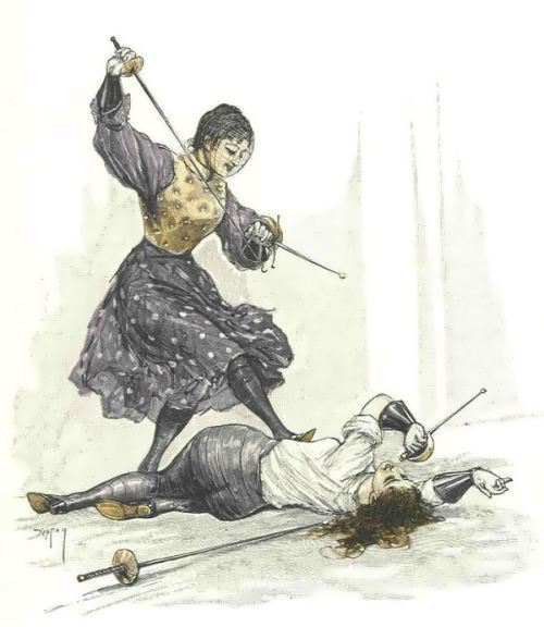 Female duels - bloody and sophisticated