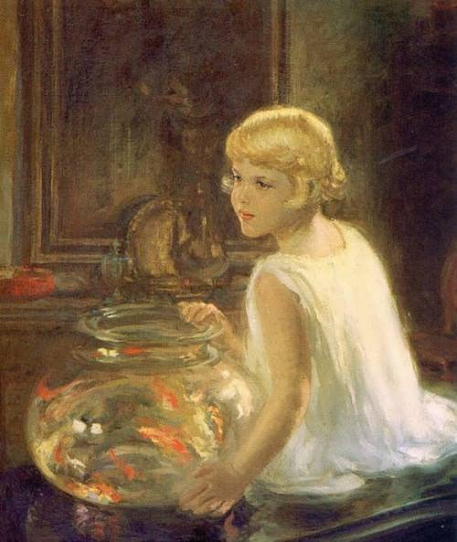 Henry Salem Hubbell. Rosemary and the Goldfish