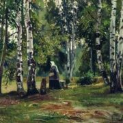 Ivan Shishkin. Birch Grove. 1889-90