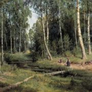 Ivan Shishkin. Creek in the birch forest, 1883