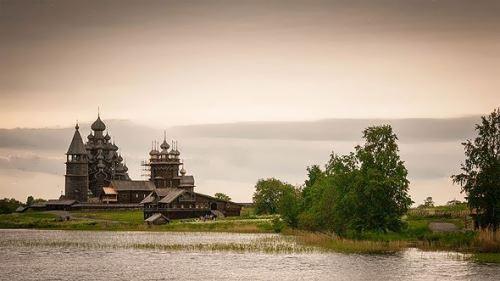 Majestic wooden church