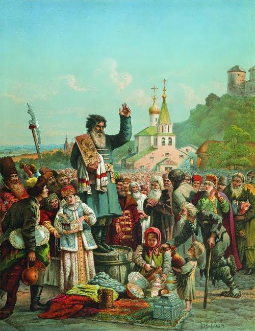 Kuzma Minin in Nizhny Novgorod in 1611.