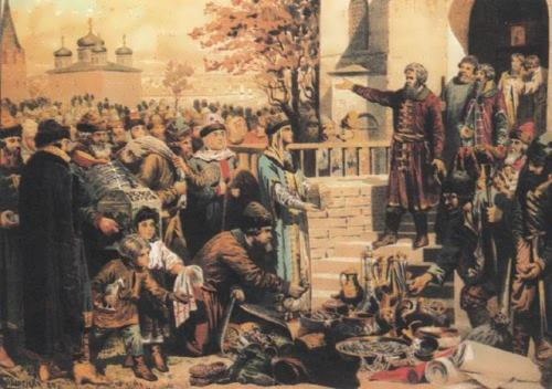 Kuzma Minin in Nizhny Novgorod. Artist Kivshenko