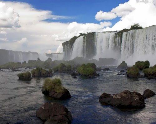 Powerful Livingstone Falls
