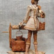 Lyubimtsev Yuri. Girl with a bucket