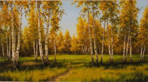 Maslennikov. Birch grove
