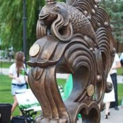 Monument to Goldfish in Astrakhan, Russia