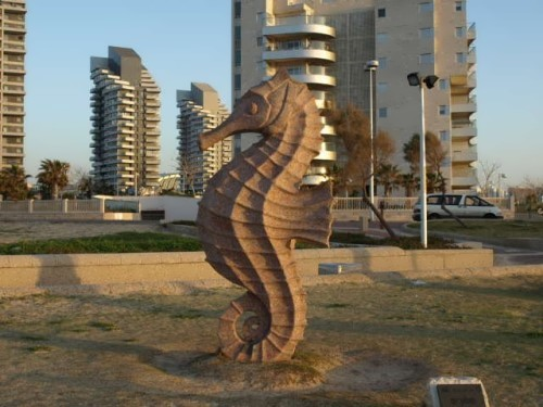 Monument to seahorse in Ashdod, Israel