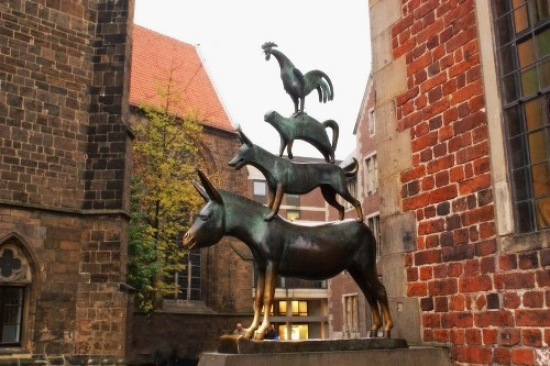 Monument to the famous Bremen Town Musicians