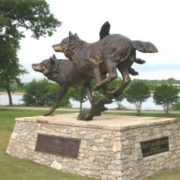Monument to wolves