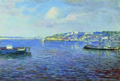 Nizhniy Novgorod View. Beginning 1890. Isaac Ile