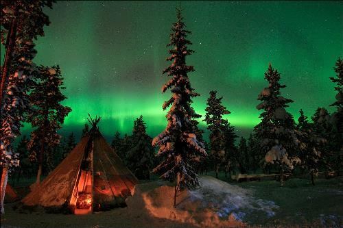 Northern lights in Sweden