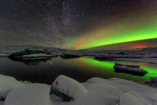 Northern lights in Iceland. Photo by Adam Rifkin