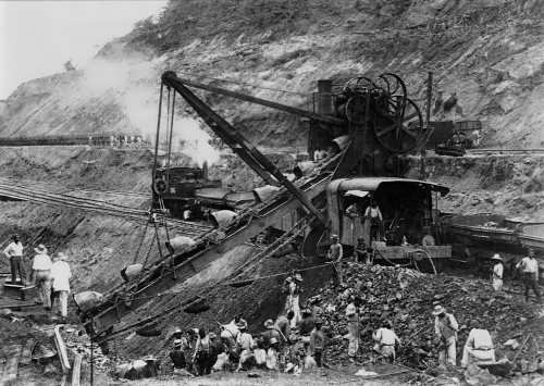 The construction of Panama Canal