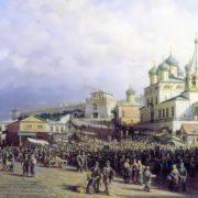 Petr Vereshchagin. The market in Nizhny Novgorod, 1872