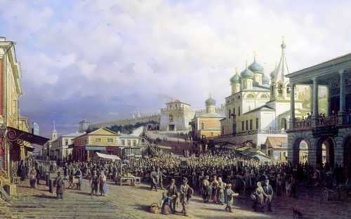 Petr Vereshchagin. The market in Nizhny Novgorod, 1872