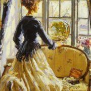 The Goldfish Bowl . Wilfred Gabriel De Glehn (1912)