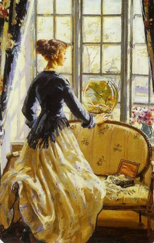 The Goldfish Bowl . Wilfred Gabriel De Glehn (1912)