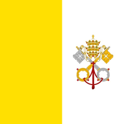 The flag of Vatican