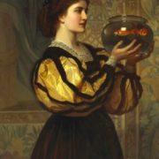 The goldfish bow. Charles Edward Perugini. 19th Century