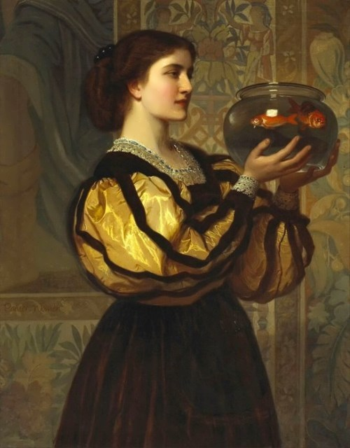 The goldfish bow. Charles Edward Perugini. 19th Century