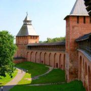 The walls of the Novgorod Kremlin