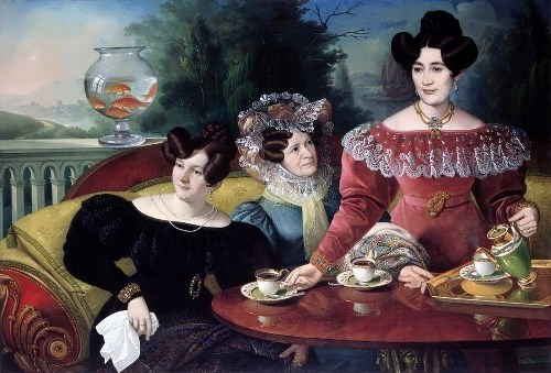 Three Ladies of the Moscon Family. Jozef Jakob Tominc (1829)