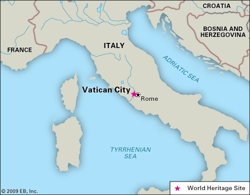 Vatican on the map