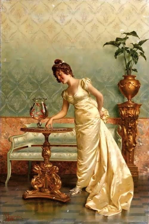 Vittorio Reggianini (Italian, 1858-1939). The goldfish