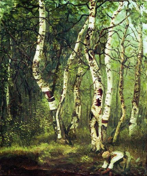 Yefim Volkov. The old birch, 1880