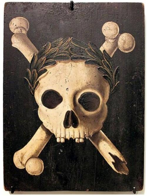 This poster was used during the plague epidemic. It was hung on the houses where they were ill people. Photo Wikimedia Commons