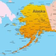 Alaska on the map