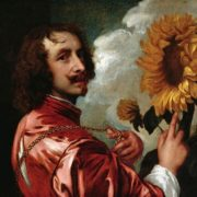 Anthony van Dyck. Self-portrait with a sunflower. 1633