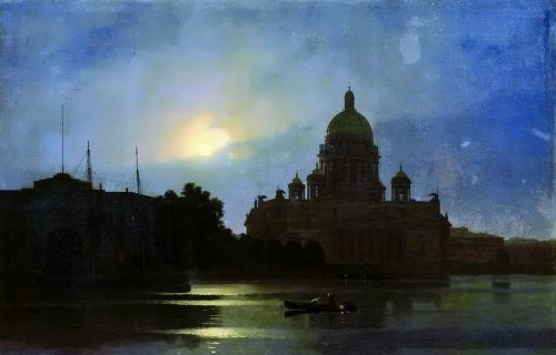 Arkhip Kuindzhi. Isaac Cathedral in the moonlight
